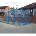 Sennen 30 Bike Shelter with Secure Gates, Sky Blue