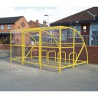 Sennen 30 Bike Shelter with Secure Gates, Yellow