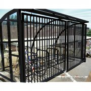 St Ives 10 Bike Shelter with Sliding Gates, Black
