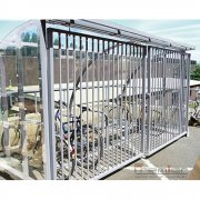 St Ives 10 Bike Shelter with Sliding Gates, Galvanised only