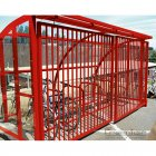 St Ives 14 Bike Shelter with Sliding Gates, Red
