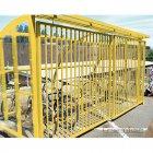 St Ives 14 Bike Shelter with Sliding Gates, Yellow