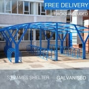 St James Cycle Shelter, Galvanised only
