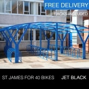 St James Cycle Shelter, Jet Black