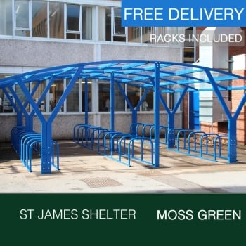 St James Cycle Shelter, Moss Green