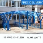 St James Cycle Shelter, Pure White