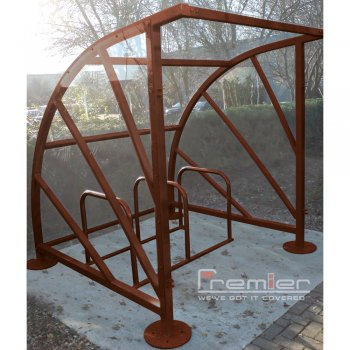 Sunrays 5 Bike Shelter, Brown
