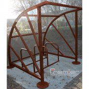 Sunrays 5 Bike Shelter, Brown