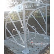 Sunrays 5 Bike Shelter, Galvanised only