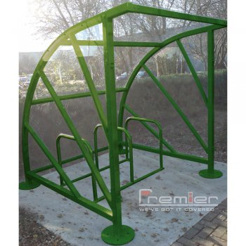 Sunrays 5 Bike Shelter, Green