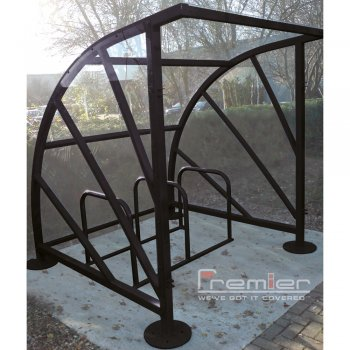 Sunrays 5 Bike Shelter, Jet Black
