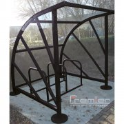 Sunrays 5 Bike Shelter, Jet Black