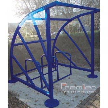Sunrays 5 Bike Shelter, Marine Blue