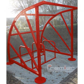 Sunrays 5 Bike Shelter, Red