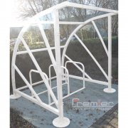 Sunrays 5 Bike Shelter, White