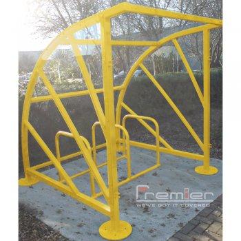 Sunrays 5 Bike Shelter, Yellow