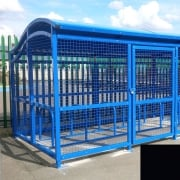 The Wave Cycle Shelter for 10 Bikes, Jet Black