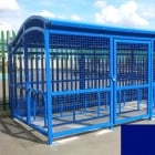 The Wave Cycle Shelter for 10 Bikes, Marine Blue