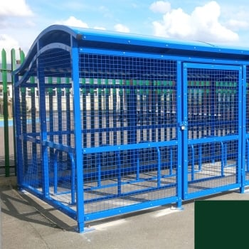 The Wave Cycle Shelter for 10 Bikes, Moss Green