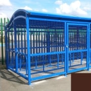 The Wave Cycle Shelter for 10 Bikes, Nut Brown