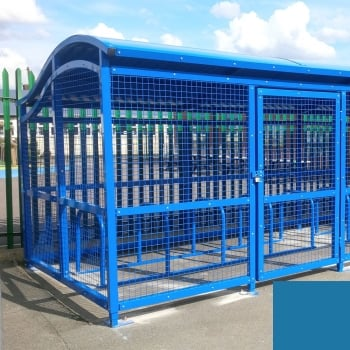The Wave Cycle Shelter for 10 Bikes, Sky Blue