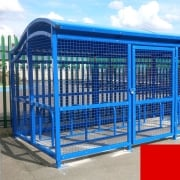 The Wave Cycle Shelter for 10 Bikes, Traffic Red