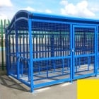 The Wave Cycle Shelter for 10 Bikes, Zinc Yellow